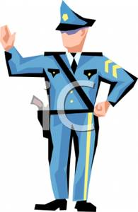 Traffic clipart police officer Traffic Picture: Directing Policeman Directing