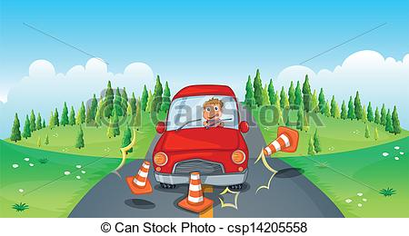 Traffic clipart reckless driving Clipart cones red bumping road