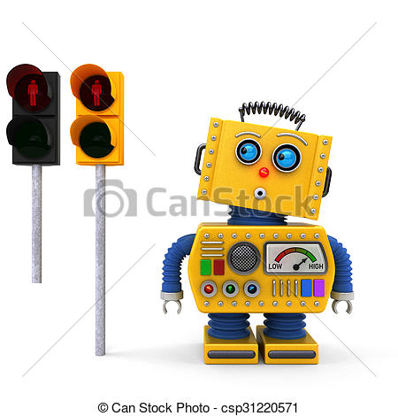 Traffic clipart robot Of at version for traffic