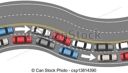Traffic clipart traffic car Traffic direction go travel Vectors
