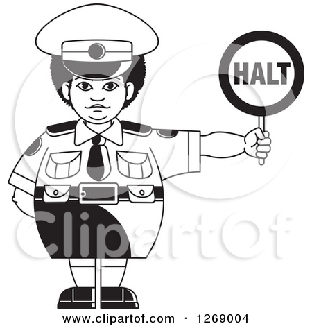 Traffic clipart traffic cop Police Vector Police Woman traffic