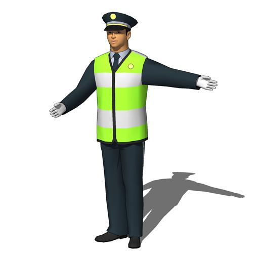 Traffic clipart traffic cop 3D Models & Model Textures