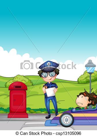 Traffic clipart traffic enforcer Enforcer girl  traffic girl