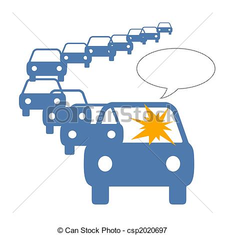 Traffic clipart traffic jam Driver in anger jam Stock