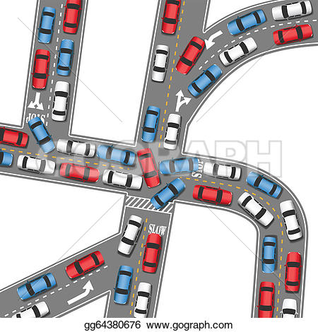 Traffic clipart traffic jam Jam Art Traffic GoGraph Auto