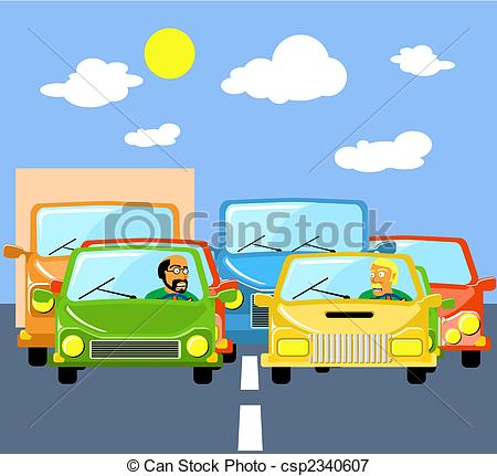 Traffic clipart traffic jam EPS Search jams Illustrations Stock