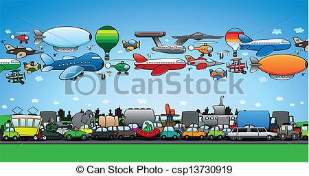 Traffic clipart traffic jam On ground jam the csp13730919