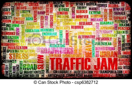 Traffic clipart traffic jam Frustration Road Massive Jam Art