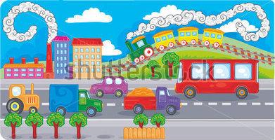 Traffic clipart traffic scene Clip Gallery art traffic heavy