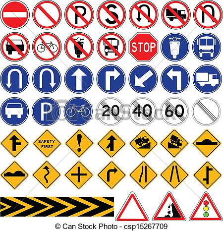 Traffic clipart traffic sign Vector  of Sign Traffic