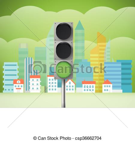 Traffic clipart trafic Cityscape light illustration trafic with