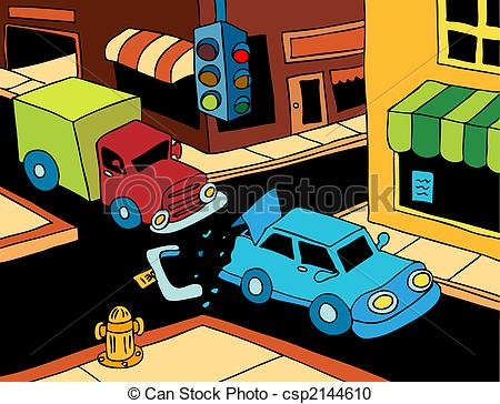 Traffic clipart truck accident #4