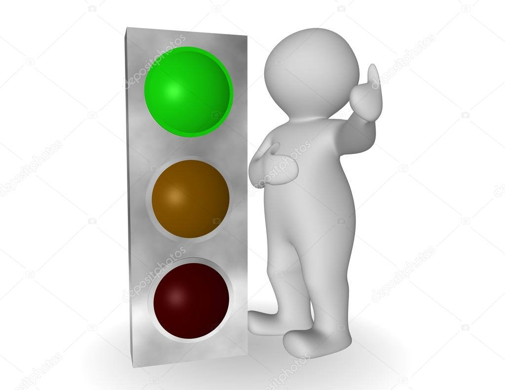 Traffic Light clipart green man #10465900 traffic that with ©