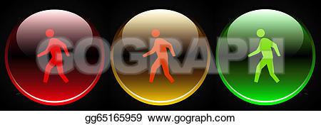 Traffic Light clipart green man Stock red red orange Clipart