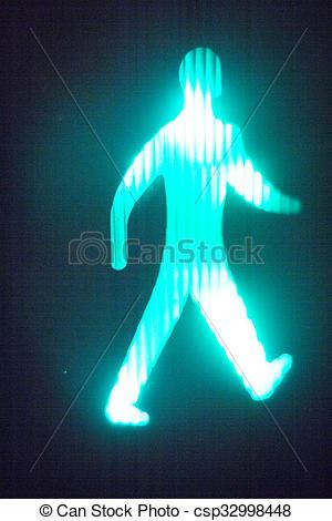 Traffic Light clipart green man Man pedestrian  traffic sign