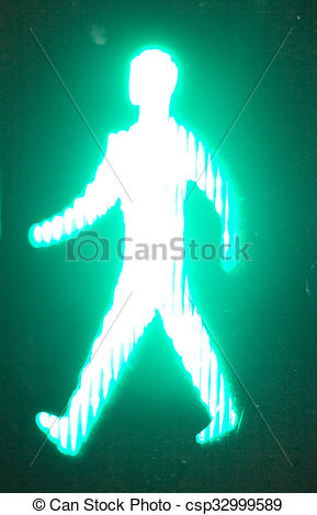 Traffic Light clipart green man Go pedestrian light  of