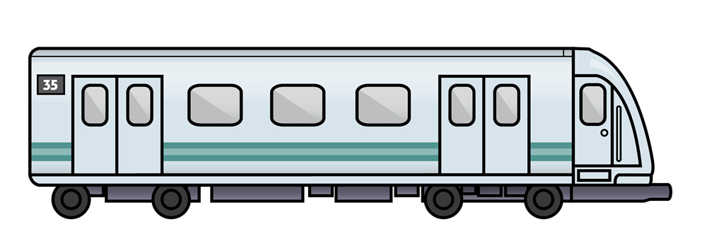 Subway clipart side view Clipartix clipart Train Train vector