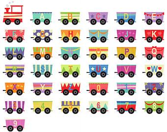 Train clipart alphabet #15