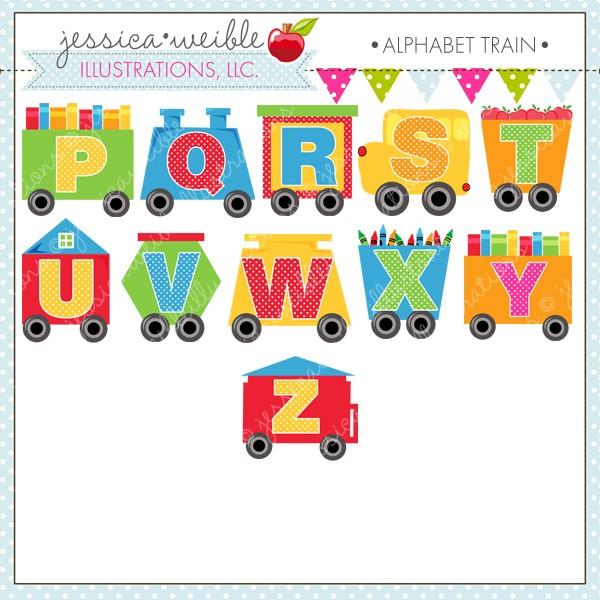 Train clipart alphabet #8