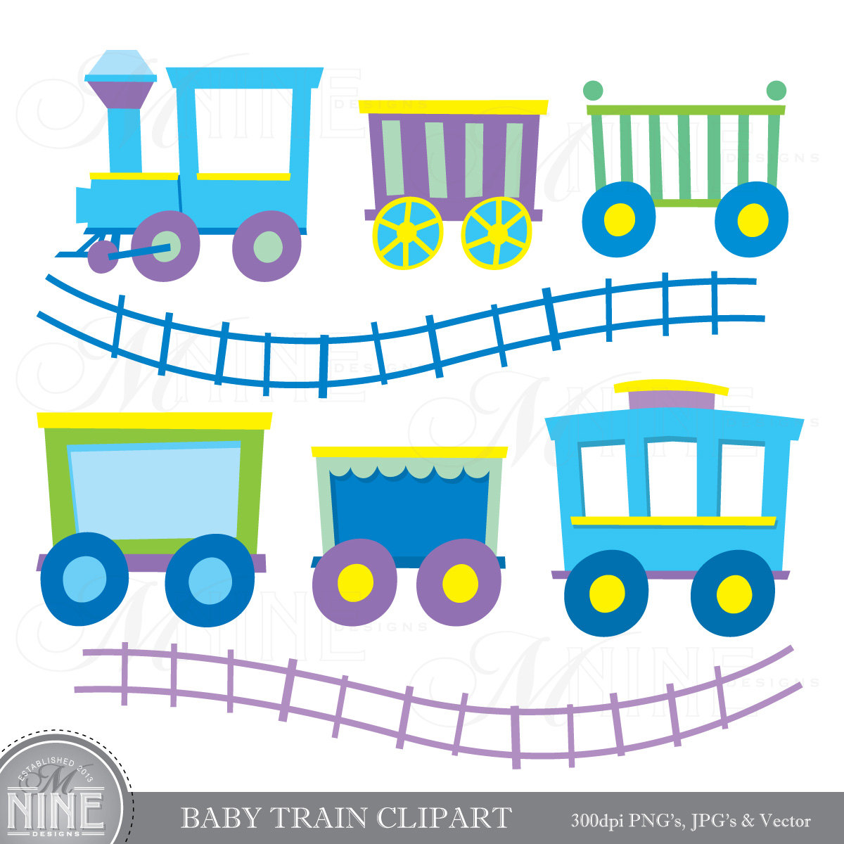 Train clipart baby boy #7