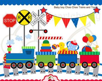 Train clipart baby boy #14