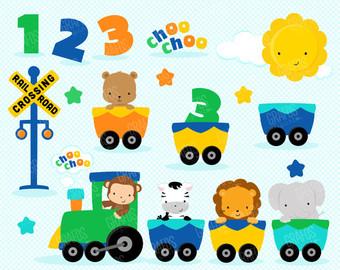 Train clipart baby boy #12