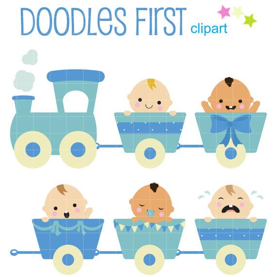 Train clipart baby boy #6