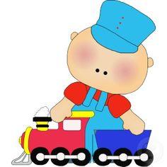 Train clipart baby boy #13