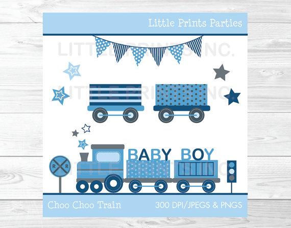 Train clipart baby boy #11