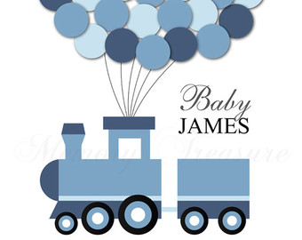 Train clipart baby shower #6