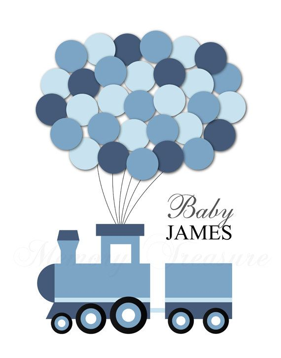 Train clipart baby shower #5