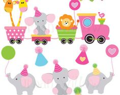 Train clipart baby shower #12