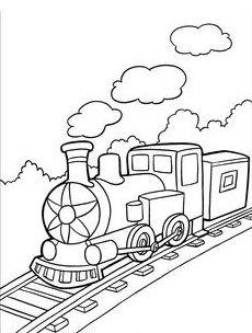 Train clipart colored #5