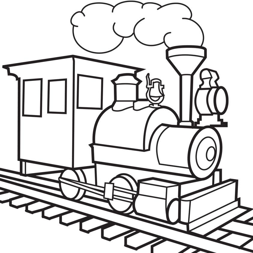 Train clipart colored #4