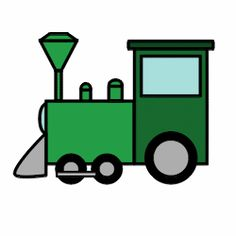 Drawn railroad easy Trains: step