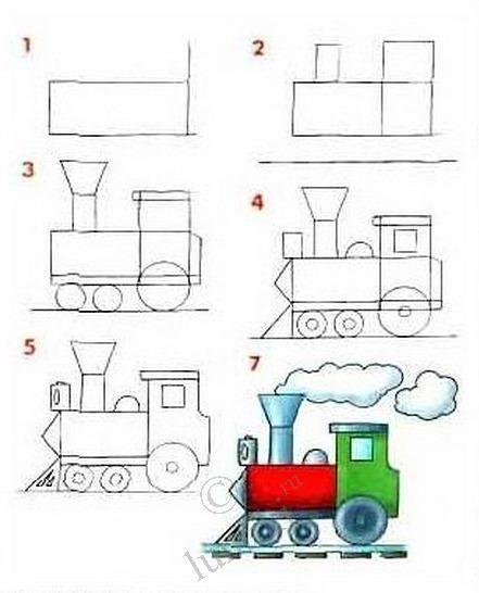 Drawn railroad easy 5674 best draw Pinterest locomotive