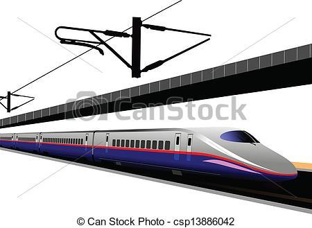 Drawn railroad shinkansen Illustration railway Stock train bullet