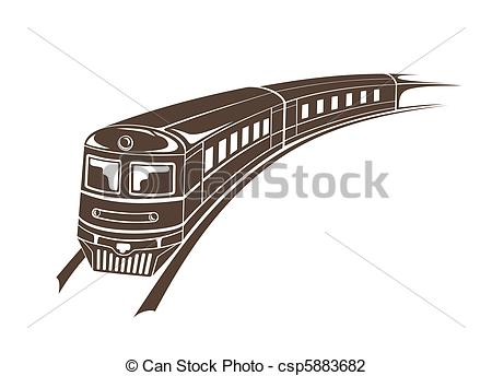 Drawn railroad simple Modern Art Illustrations  illustration