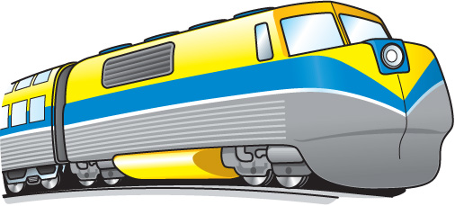 Train clipart modern train #7