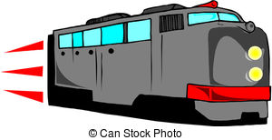 Train clipart modern train #9