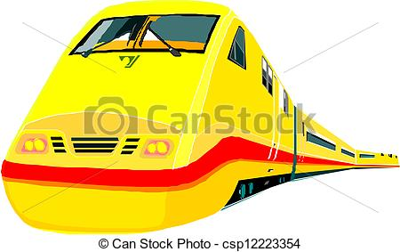 Train clipart modern train #8