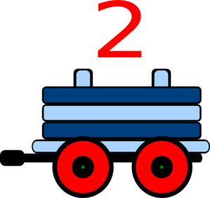 Train clipart number train #9