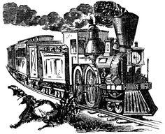 Train clipart old school #9