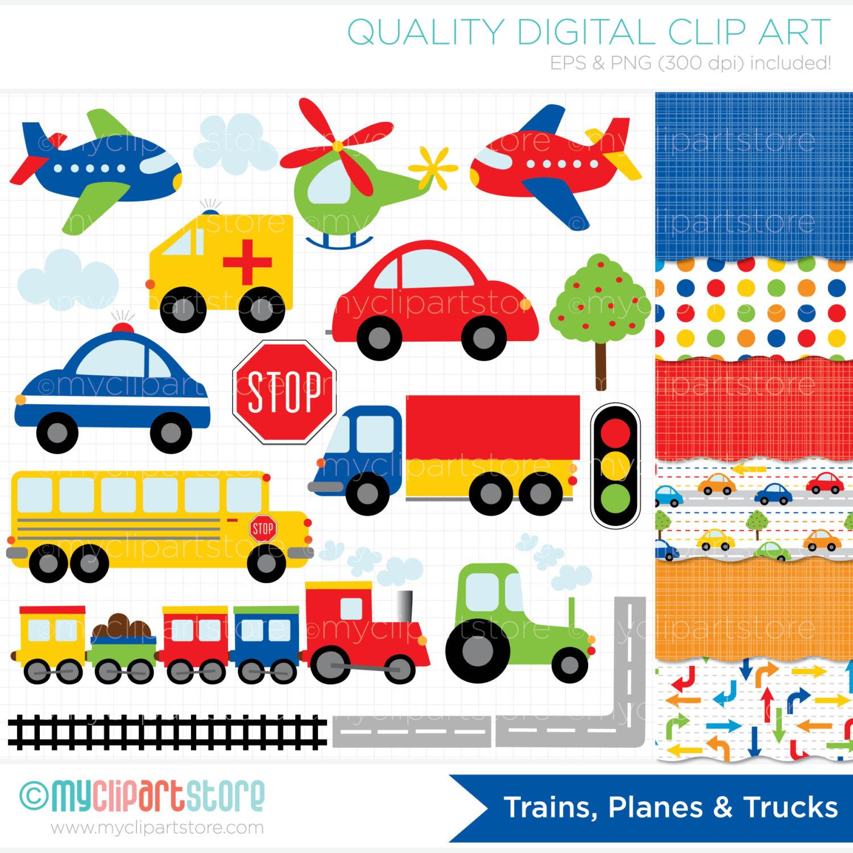 Train clipart road transport #8