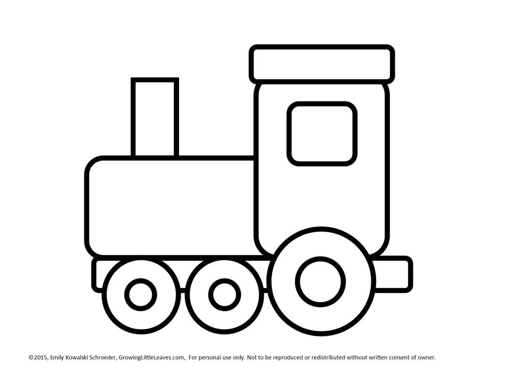 Train clipart template #7