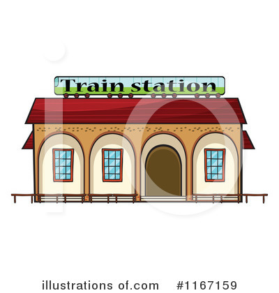 Train Station clipart Illustration by #1167159 #1167159 Train