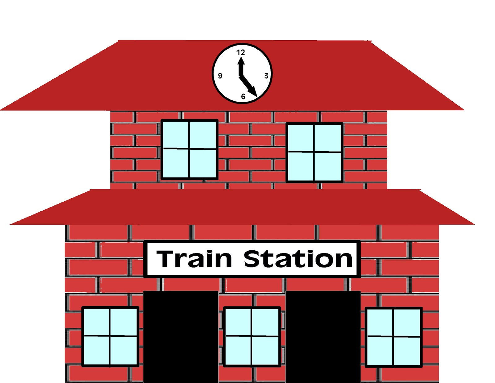 Stop clipart railroad Train art – clip station