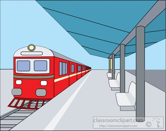 Train Station clipart train stop From: train station outdoor