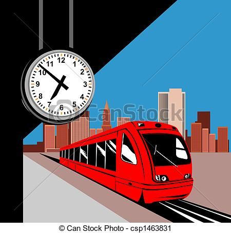 Train Station clipart train platform Stock at of station at