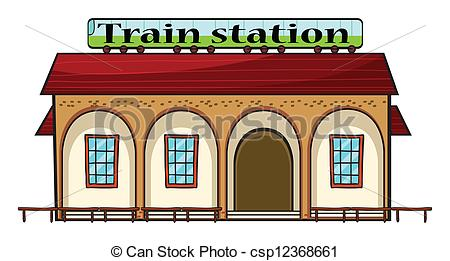 Train Station clipart train platform A csp12368661 of Art train
